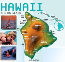 Map Big Island Hawaii