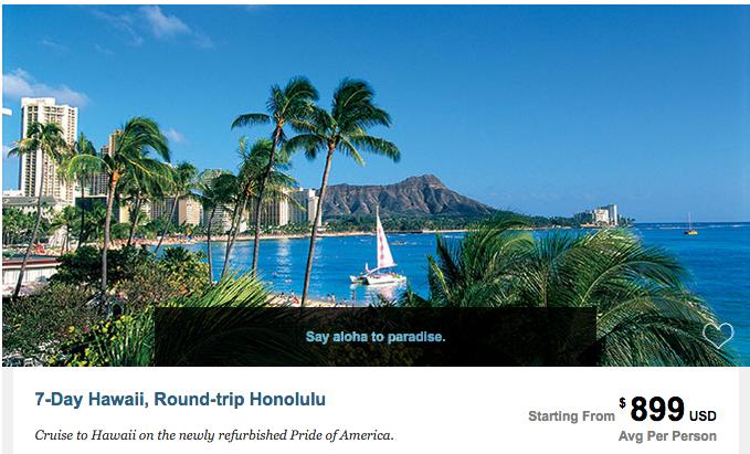 Hawaiian Islands Cruise Vacation