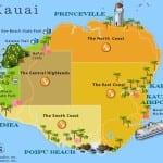 Map of Kauai Resorts Hawaii