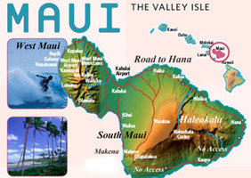 Map of Maui Hawaii