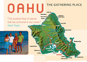 Map Oahu Hawaii