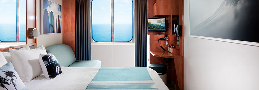 Hawaiian Islands Cruise ocean view-cabin with balcony