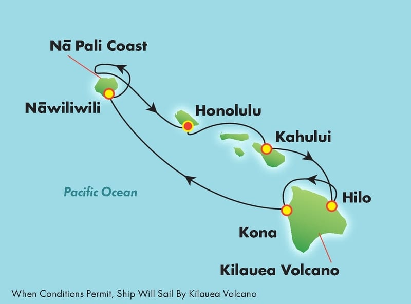 Hawaii-cruise-itinerary-map